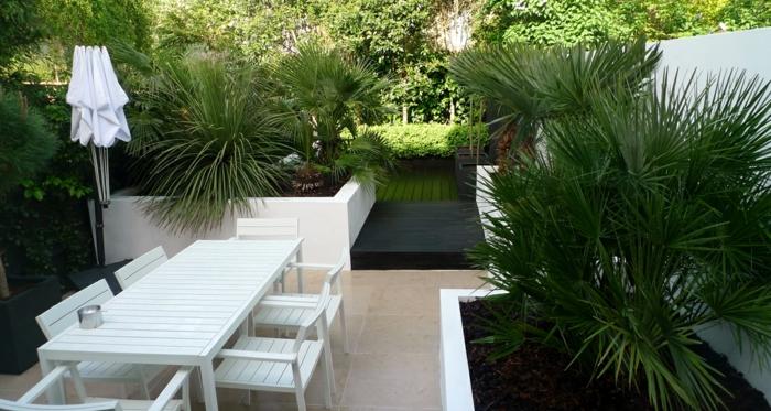 hochbeet design weiß moderner außenbereich weiße außenmöbel