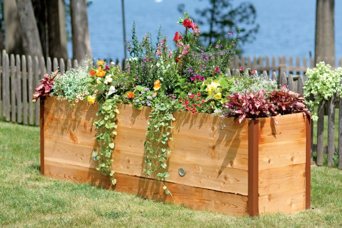 Landscape Raised Flower Beds