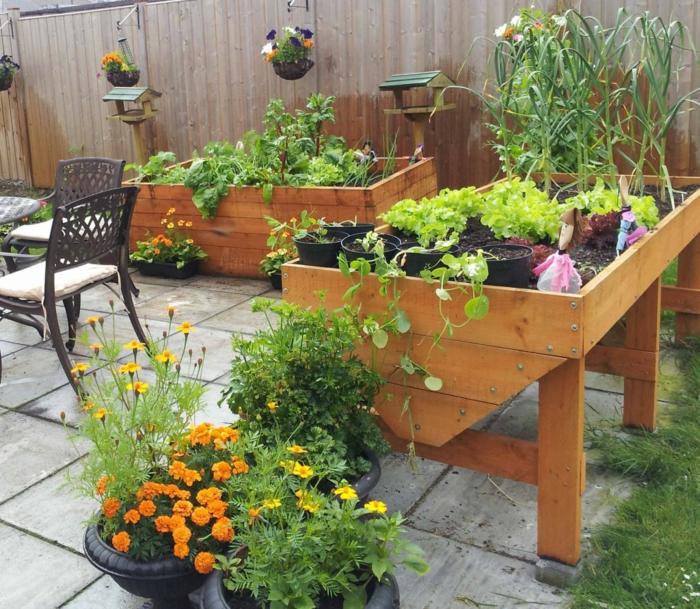 Hochbeet Im Garten - Eine Schöne Gartengestaltungsidee Gemuse Auf Dem Balkon Hochbeet Garten