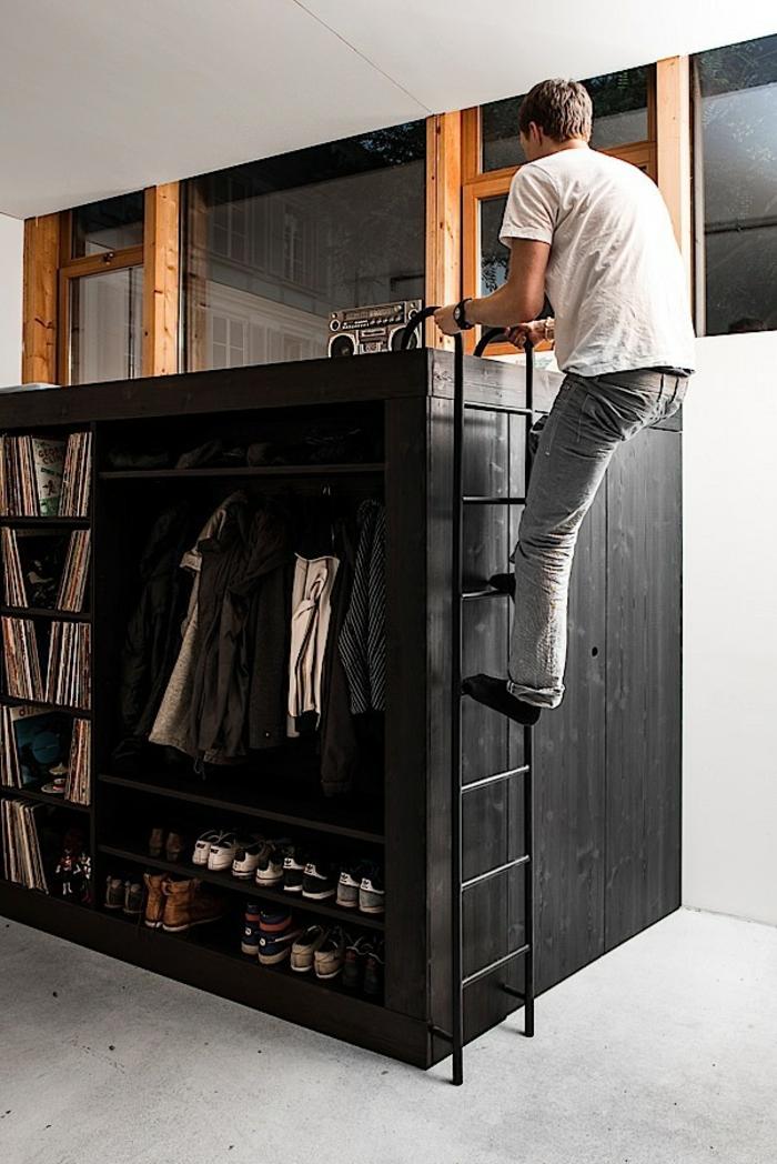 hochbetten für erwachsene hochklettern living cube designermöbel ideen