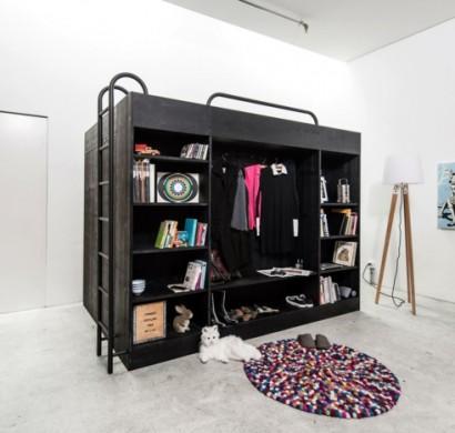 hochbetten f r erwachsene living in a box hat schon. Black Bedroom Furniture Sets. Home Design Ideas