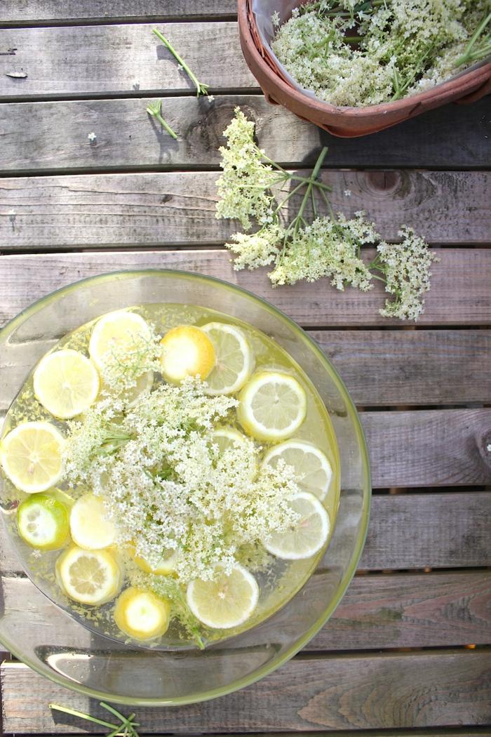 holunderblütensirup gesundes getränk zubereiten