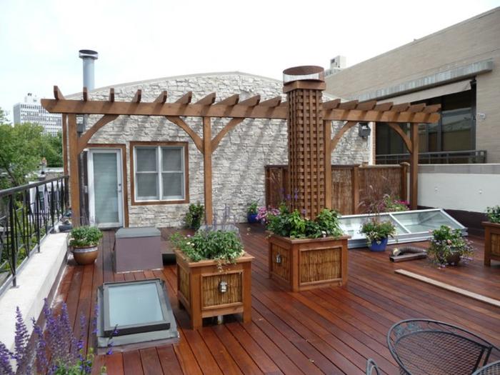 holzarten bodenbelag decking holzdielen veranda rustikal