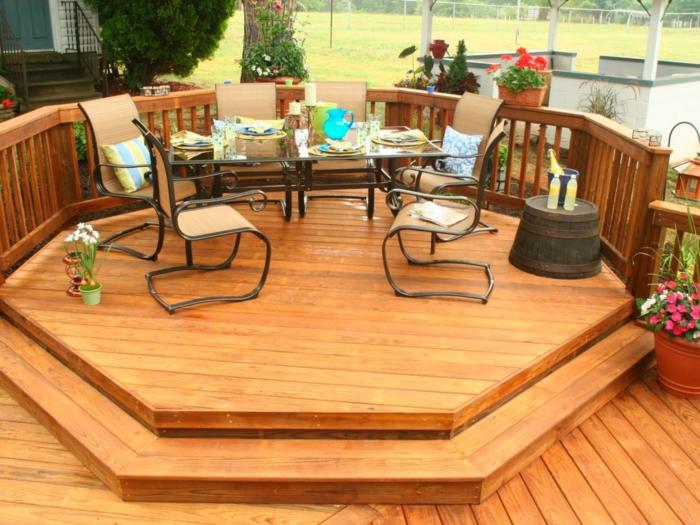 holzarten bodenbelag terrasse veranda helles holz