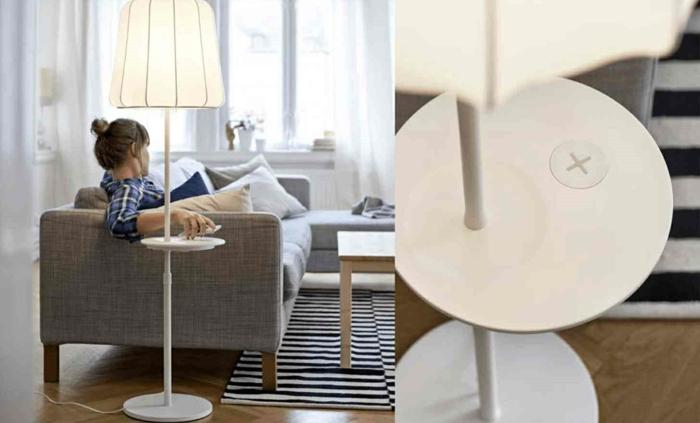 ikea wohnzimmermöbel handy aufladen kabellos