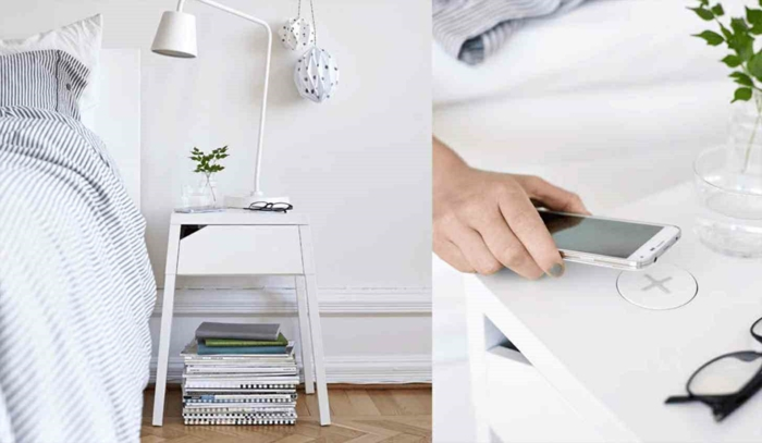ikea wohnzimmermöbel smart geräte nachttisch