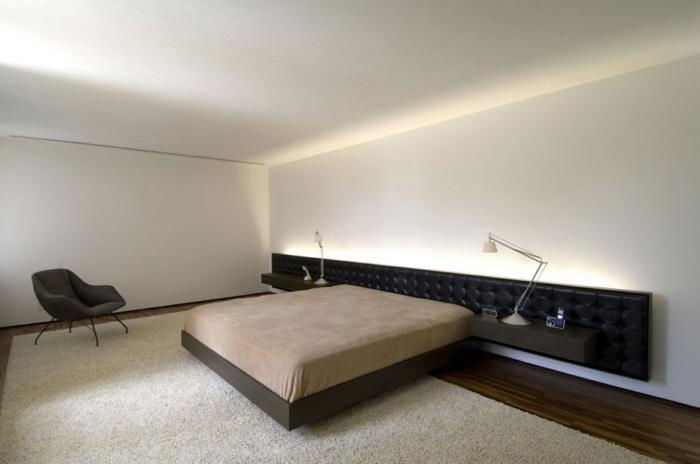 Indirekte Beleuchtung Ideen Schlafzimmer Geräumig Teppich