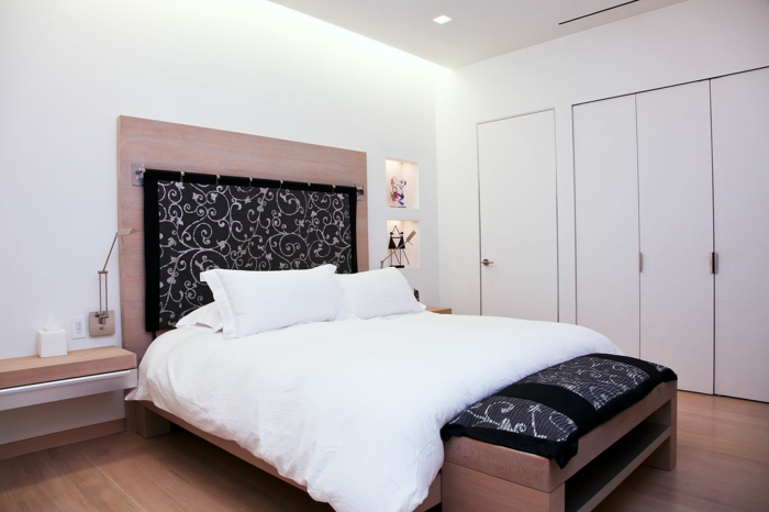 indirekte beleuchtung ideen schlafzimmer weiße wandfarbe schlafzimmerbank