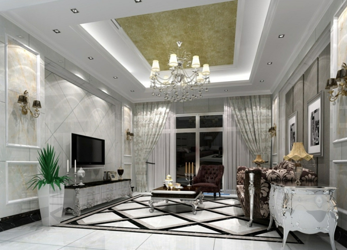 indirekte beleuchtung ideen wohnzimmer deckenbeleuchtung leuchter led. Black Bedroom Furniture Sets. Home Design Ideas