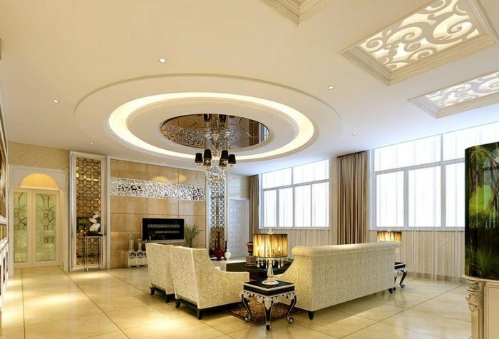 led wohnzimmer ideen:indirekte beleuchtung ideen wohnzimmer dekenbeleuchtung luxuriöses