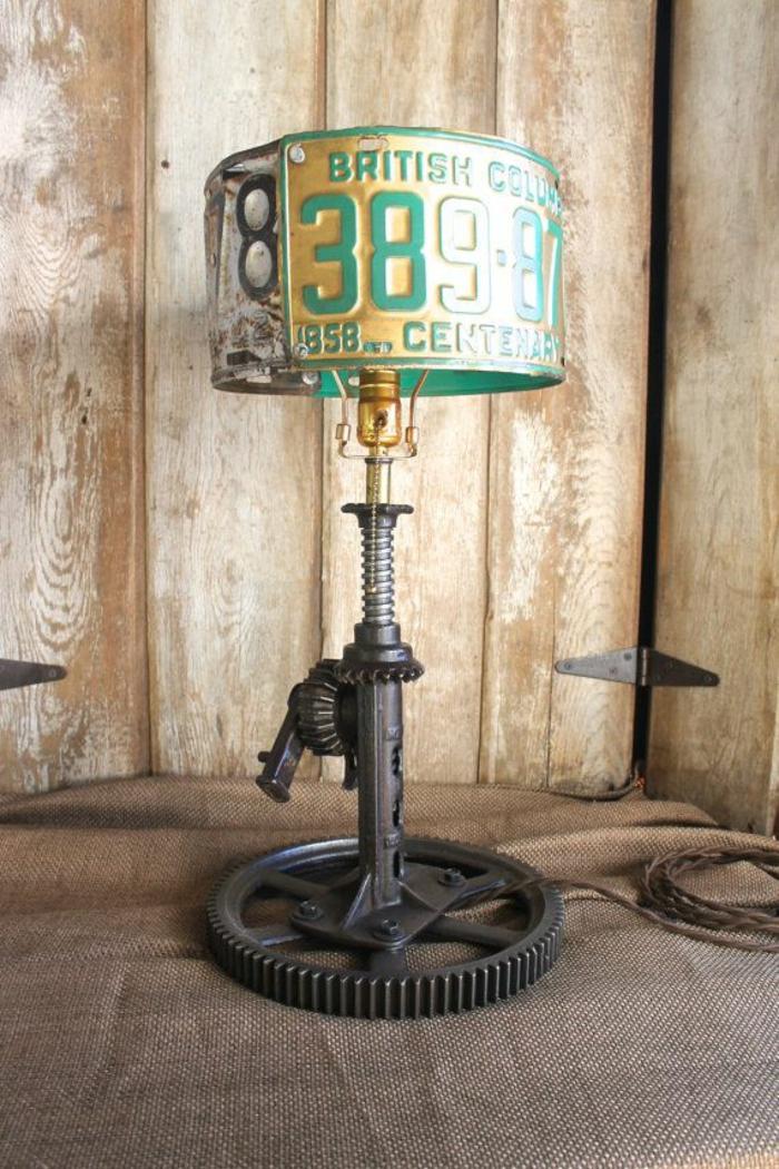 industrielampen diy tischlampe selber basteln