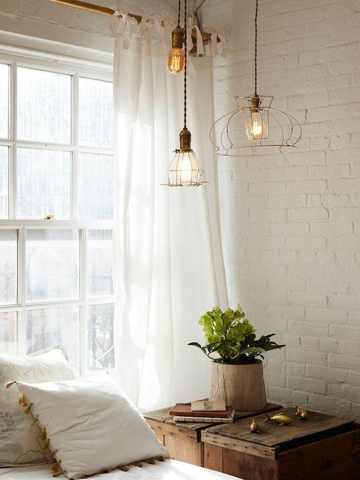 industrielampen pendelleuchten mit metallgestell wohnzimmer möbel