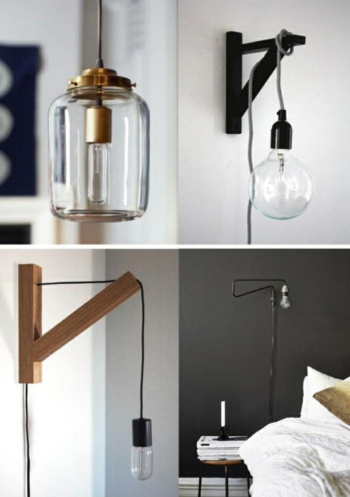 industrielampen wandlampen im industriellen stil