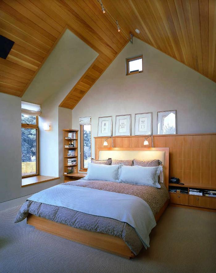 innendesign dachgeschoss ideen schlafzimmer gestalten schöne texturen