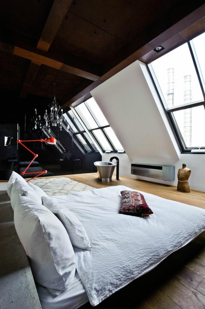 dachgeschoss einrichten - ein optimales und charmantes innendesign ... - Modernes Einrichten Dachgeschoss