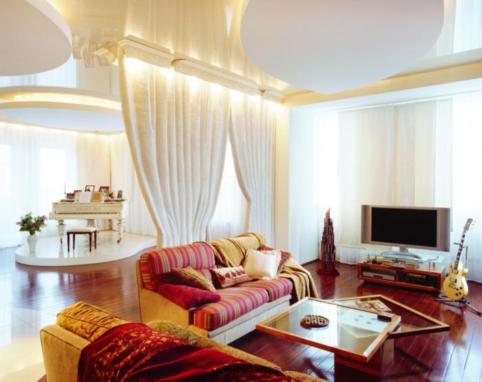 innendesign wohnzimmer couchtisch schöne texturen