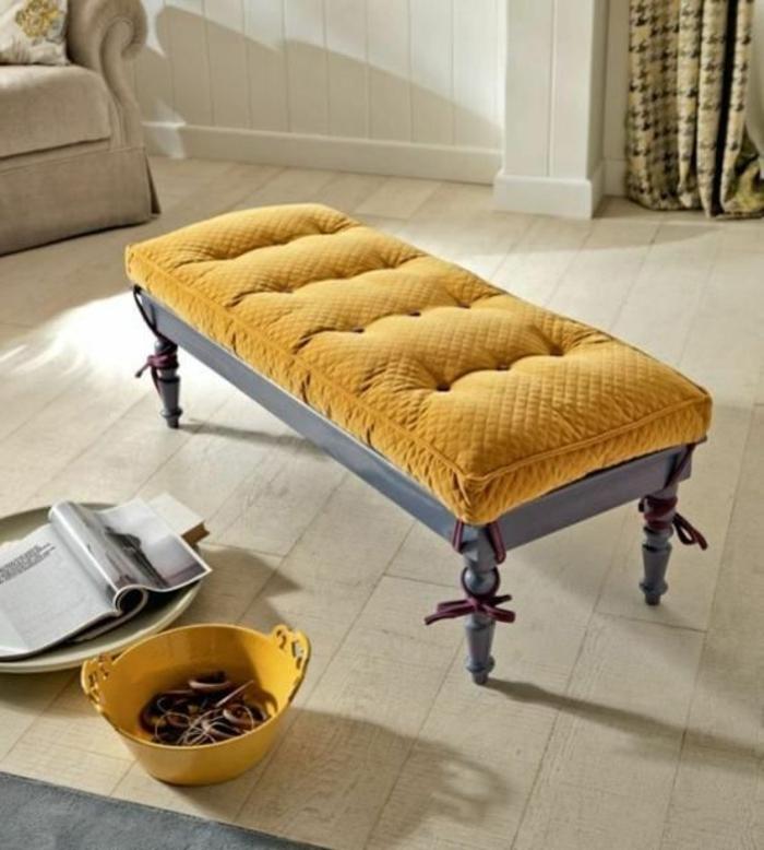 italienische polstermöbel badezimmer luxusmöbel polsterbank gelb