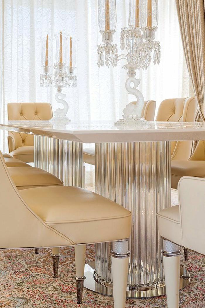 italienische polstermöbel esszimmer möbel esstisch mit stühlen