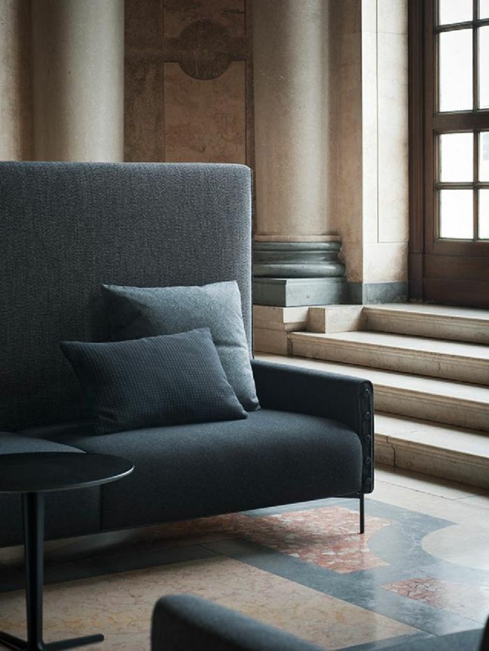 italienische polstermöbel wohnzimmer möbel sofa blau TACCHINI ITALIA