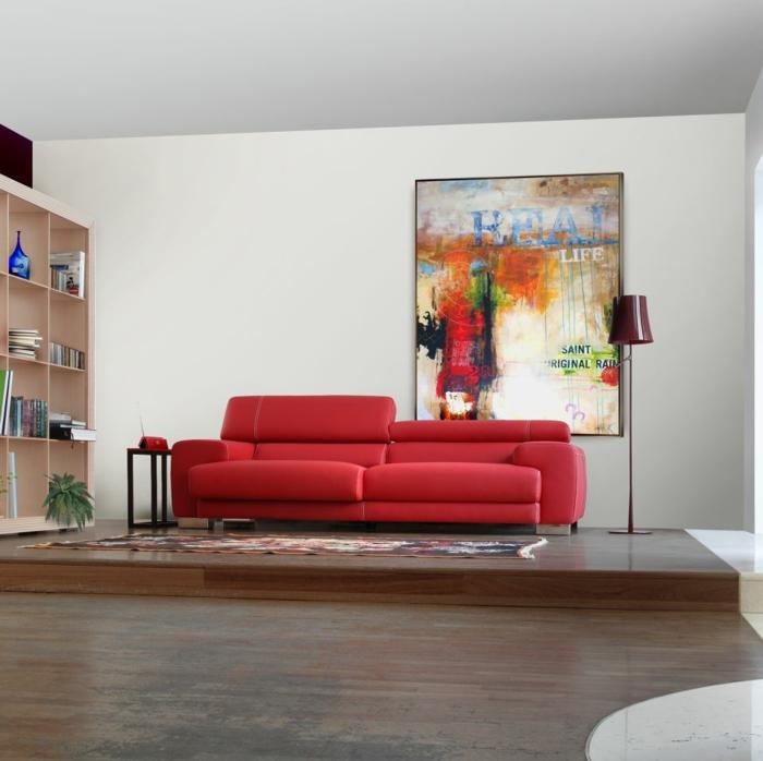 italienische polstermöbel wohnzimmer möbel sofa rot
