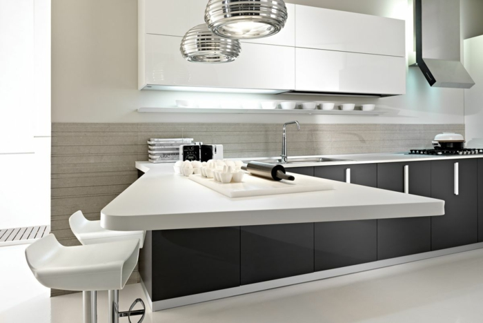 küchendesign ideen moderne küche coole arbietsfläche