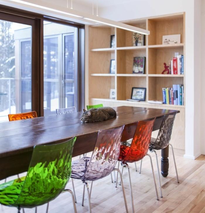 küchenstühle ausgefallenes design in unterschiedlichen farben