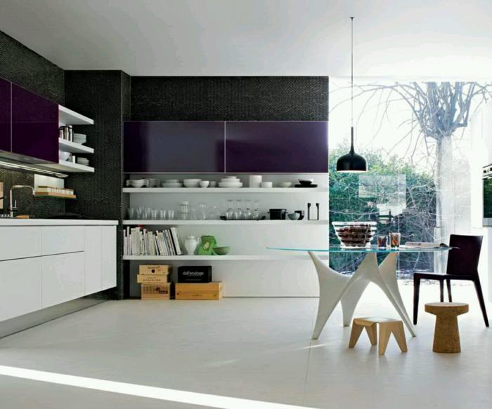 küchenstühle auswählen hocker offene regale