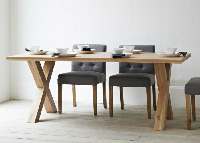 küchenstühle design grau holz ausgefallener esstisch
