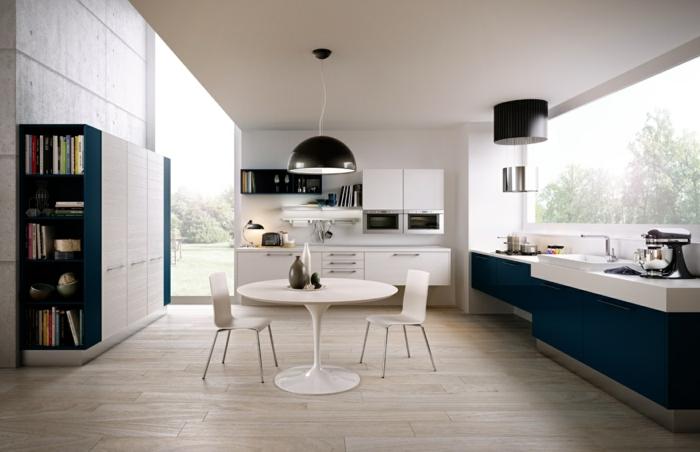 küchenstühle design weiß ohne armlehnen runder küchentisch