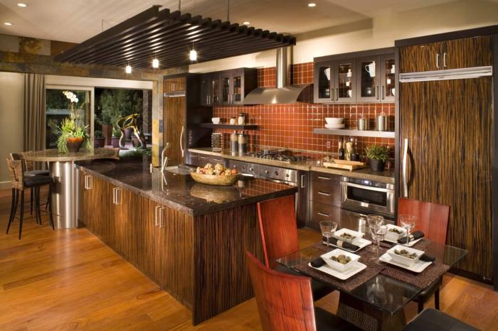 küchenstühle schöne texturen kücheninsel essbereich gestalten