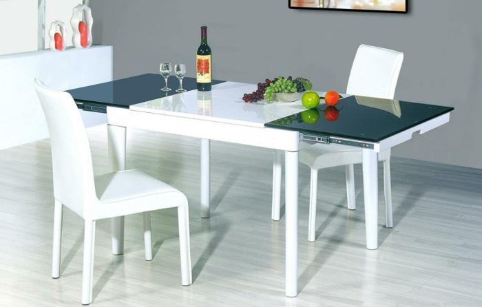 küchenstühle weiß funktionaler esstisch küche gestalten