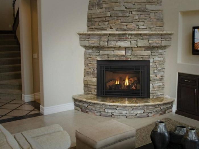 kaminfeuer wohnzimmer einrichten kamin steine