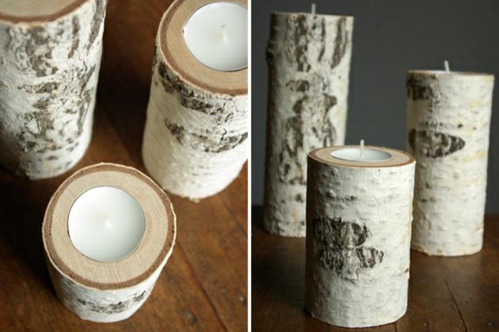 kerzenständer birkenholz natur zylinder