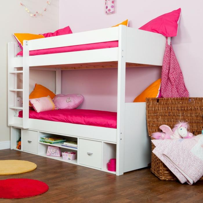 kinderzimmer ideen farbiges mädchenzimmer hochbett