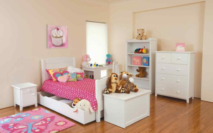 kinderzimmer ideen mädchenzimmer weiße möbel spielzeuge