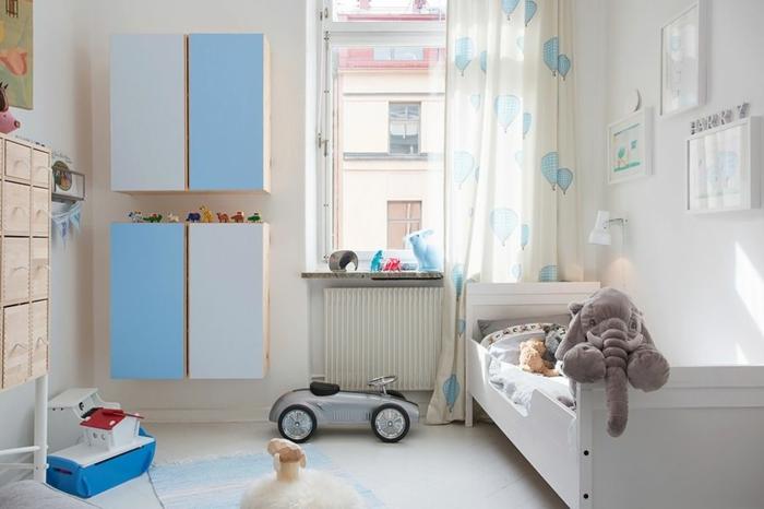 Grune Wandfarbe Fur Kinderzimmer : kinderzimmer wandschränke lustige gardinen weiße wandfarbe