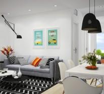 Wunderbar Facebook Twitter Google+ Pinterest · Kleine Zimmer Einrichten Helle Sofas  Wohnwand Beistelltisch Kleine Zimmer Einrichten U2013 Frische Ideen Für Kleine  Räume ...