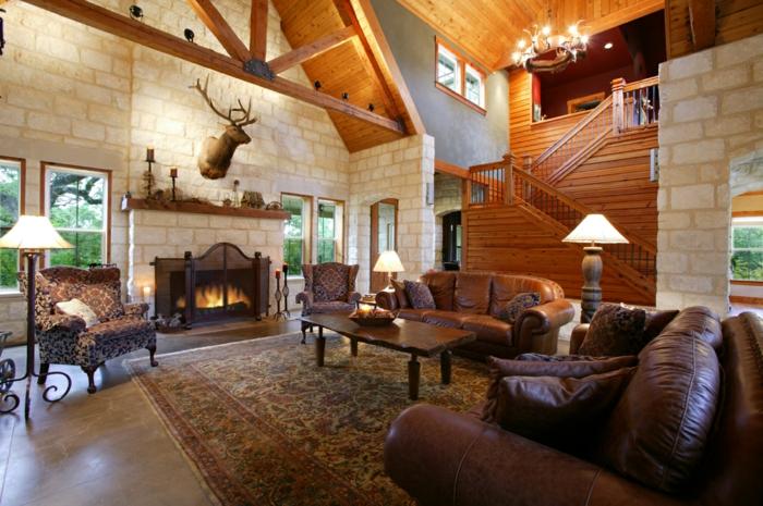 dekoideen wohnzimmer landhausstil: landhaus landhausstil deko, Wohnideen design