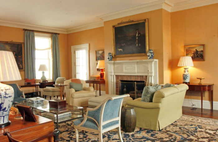 Den landhausstil ins haus bringen und ein innendesign zum - Orange wandfarbe ...