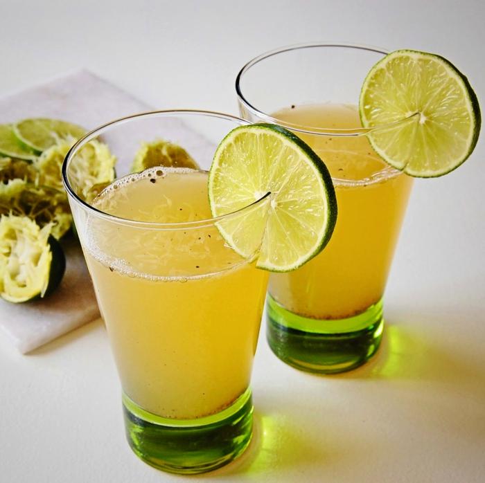 limonade selber machen ingwer gewürze masala