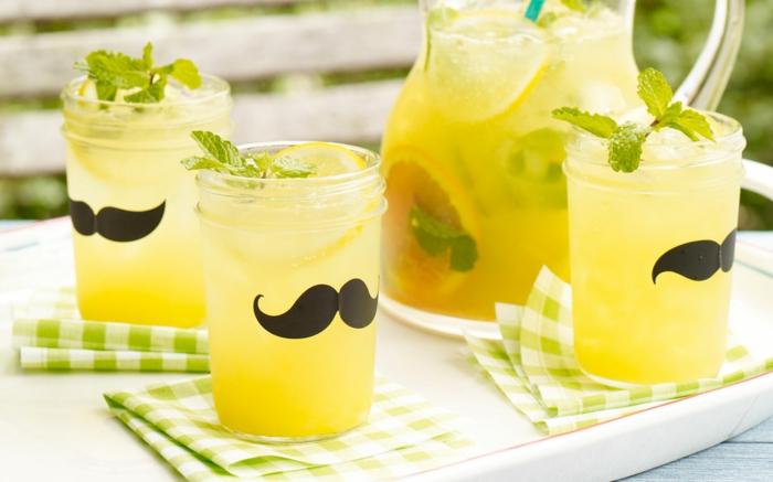 limonade selber machen sommerparty lustig gestalten