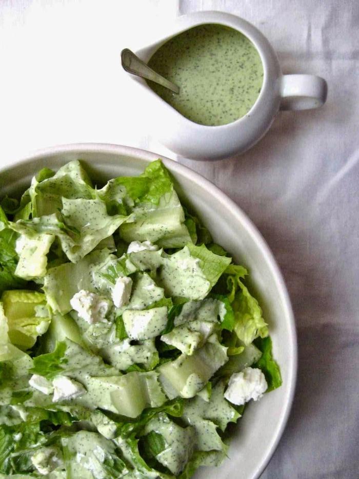 low carb rezepte grüner salat feta käse avocado