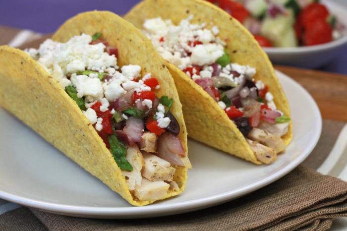 low carb rezepte griechische tacos hähnchen feta käse