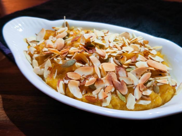 low carb rezepte kürbis mandelsplitter