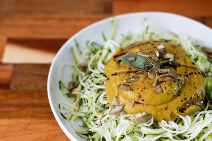 low carb rezepte zucchini nudeln kürbis