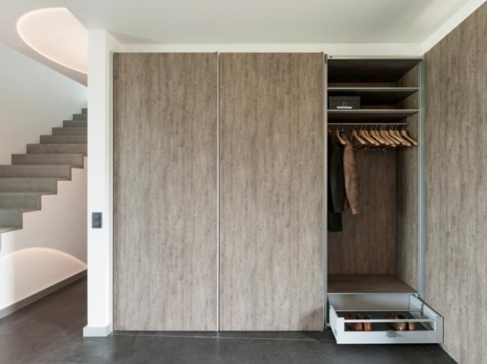 moderne garderoben männer kleiderschrank organisieren