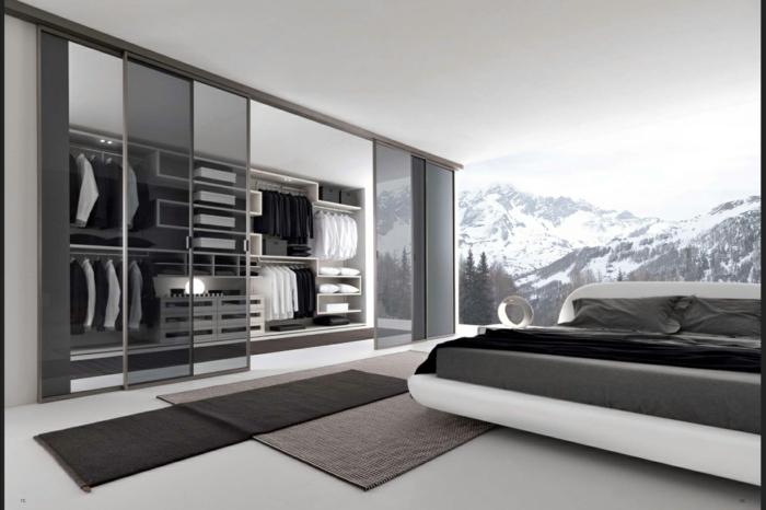 moderne garderoben ordnung bringen männer schlafzimmer