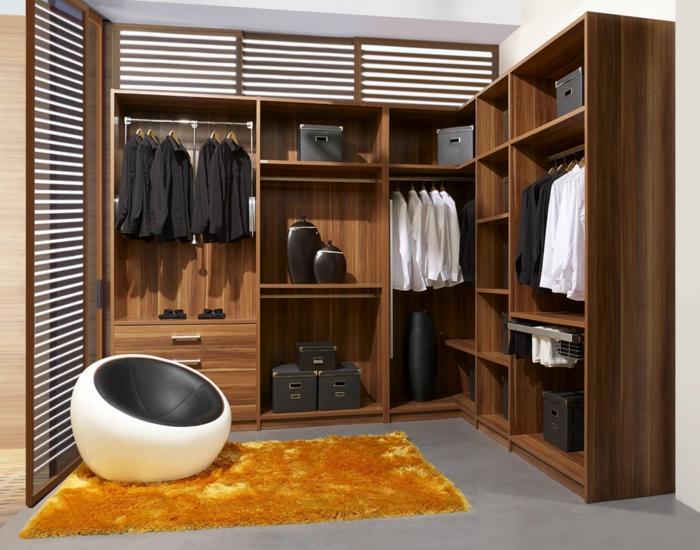moderne kleiderschränke männer ordnung krasser teppich