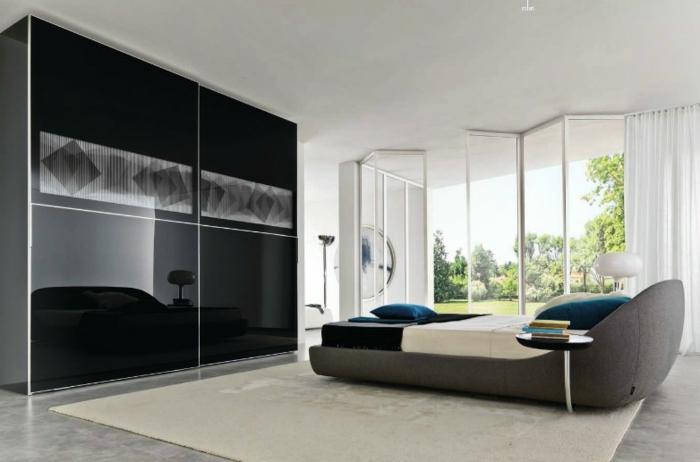 moderne kleiderschränke schlafzimmer männer ausgefallenes bett