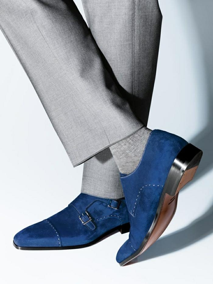 moderne herrenschuhe in blau elegante herrenschuhe herbst
